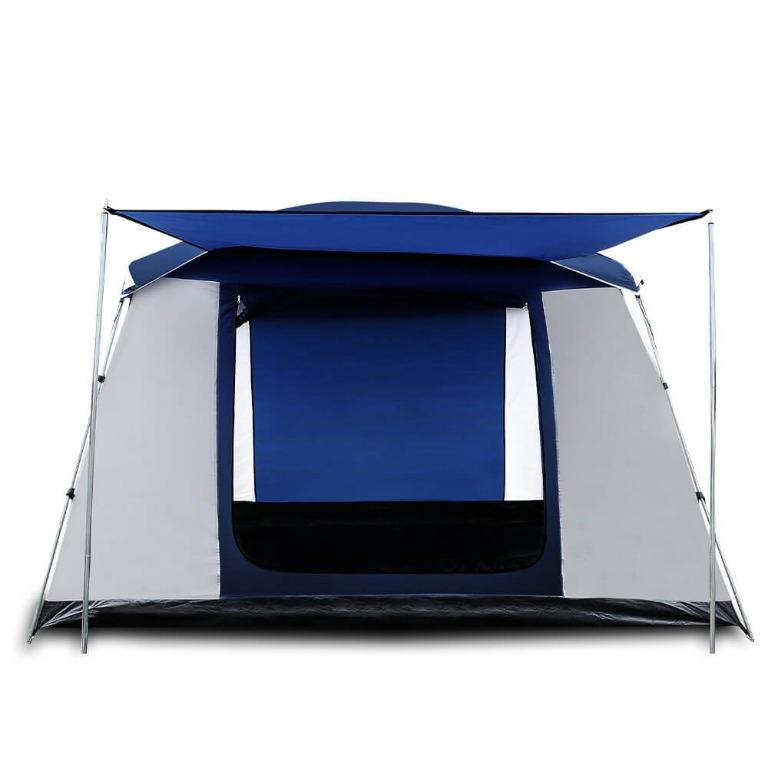 Weisshorn 6 Person Dome Camping Tent – Navy and Grey