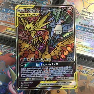 Moltres Zapdos Articuno Tag Team GX FA Pokemon Card TCG