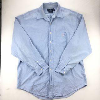 Polo ralph lauren 淺藍色長袖襯衫 17-34