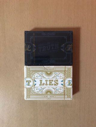 Truth & Lies Playing cards