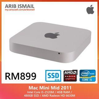 Mac Mini Core i5 / 4GB RAM / 480GB SSD / AMD Radeon HD 6630M