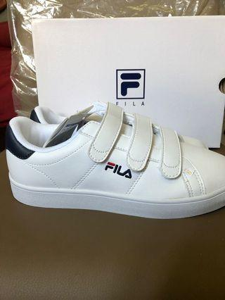 BNIP Fila Navy Court Deluxe Sneakers Velcro Shoes EUR 37