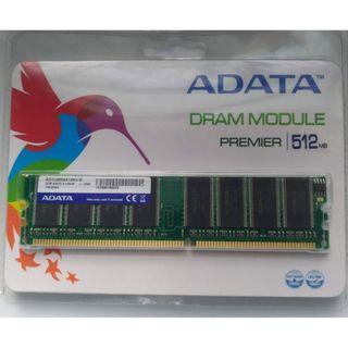全新 未拆封 威剛 ADATA 記憶體 DDR-400-512M (終身保固)