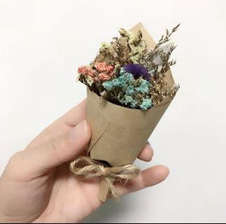Dried Mini Flower Bouquet Baby's breath and Wildflowers