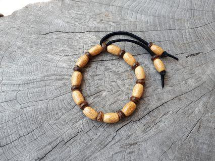 Natural Wood Mix Coconut Shell Beads Bracelet