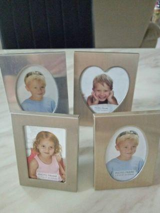 Small Photo Frames x 4 pcs