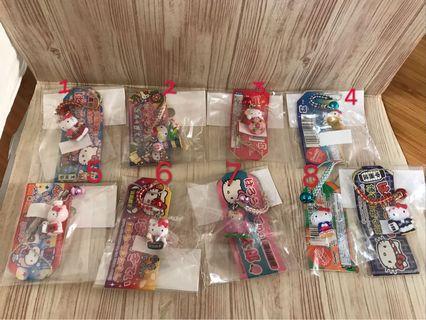 全新 日本各地區kitty 吊飾