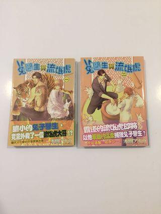 Yaoi BL manga, Rabbit man, Tiger man
