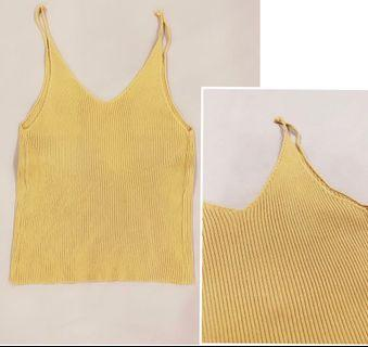[ALL FOR RM15] Yellow Knitted Singlet Top