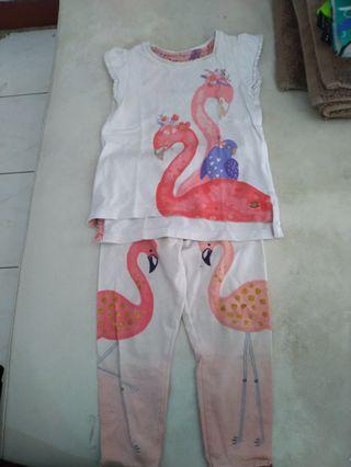 Mothercare setelan Flamingo
