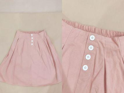 [ALL FOR RM15] Pastel Pink Long A Line Skirt