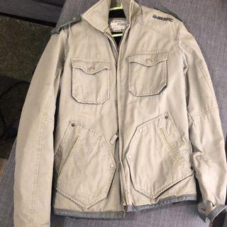 Energie 軍風 飛行 夾克 冬天 厚 外套 灰 綠 灰綠 雅痞 硬漢