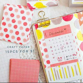 Sunshine craft paper (15sheets)