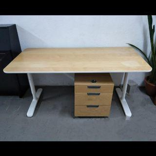 Office table with pedestal ( free delivery )