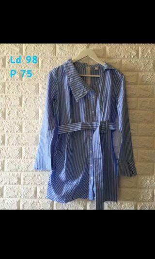 Blouse stripe blue