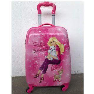"LAST PIECE 18"" Barbie Kids Luggage Disney Cartoon Suitcase Traveling Holiday"