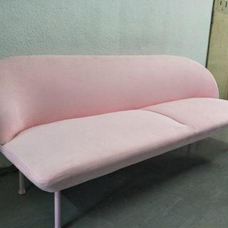 Pink long sofa ( free delivery )