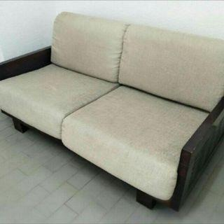 Solid wood sofa ( free delivery )