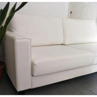 White 3 seater sofa ( free delivery )