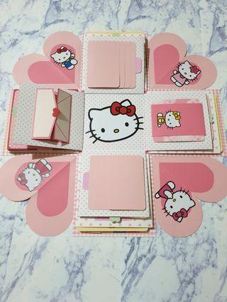 現貨 精緻款 Hello  kitty 爆炸禮物卡片盒