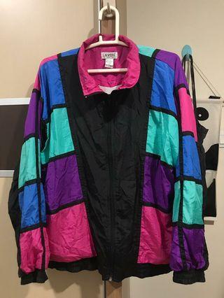 90's Vintage Colourblock Windbreaker