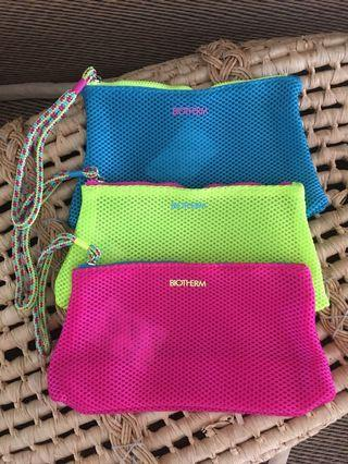 Ready stock: Set of 3pcs Biotherm net makeup pouch