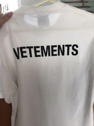 100% Authentic VETEMENTS T-Shirt