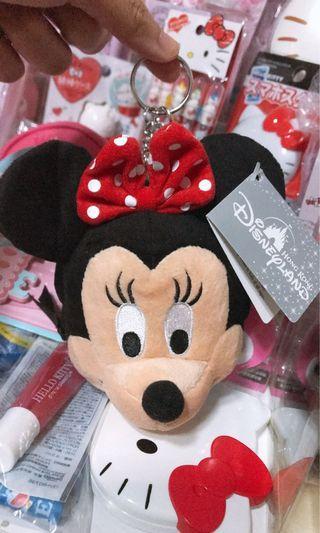 香港迪士尼帶回 米妮鑰匙圈 零錢包 隨身鏡