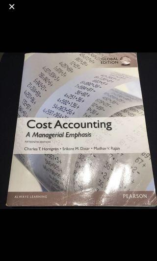 Cost Accounting  15th edition 成本會計原文書