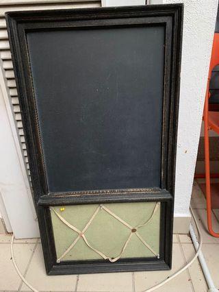 Blackboard & noticeboard 86 cm*46 cm