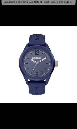 REEBOK SPINDROP SPEED RF-SDS-G2-PNIN-NW NAVY BLUE SILICONE STRAP UNISEX WATCH