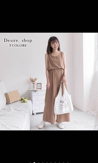 轉賣 Desire shop 棉質背心+寬褲套裝