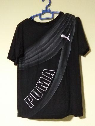 (Size M) Puma Black T-Shirt