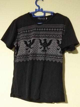 (Size S) Black T-Shirt Top