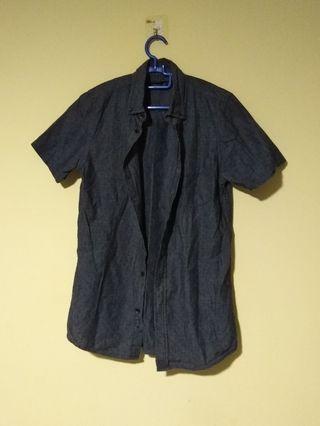 (Size M) Grey Smart Shirt