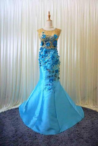 NEW Mermaid Wedding Gown bridal dinner dress khawin M
