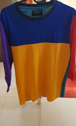 Cotton on colour block long sleeve shirt