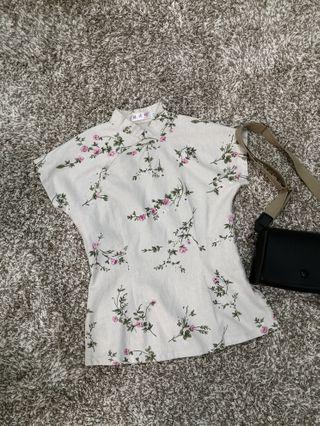 Linen cheongsam blouse