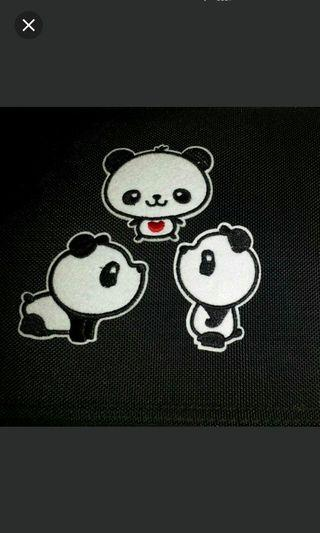 0.50cts clearance Panda Iron On Diy T Shirts Cute Lovely Pretty Iron On Bag Jeans Patch Embroidery