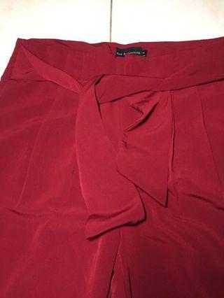 Celana Bahan maroon