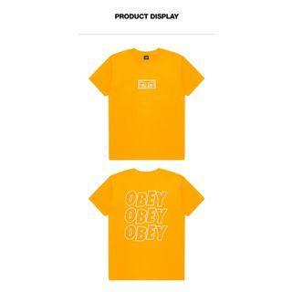 OBEY Men's LOGO printing short-sleeved T-shirt