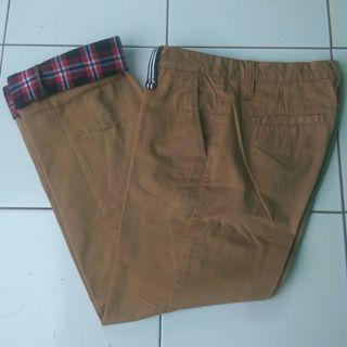 Flanel Lined Pants - chino motif - workpants motif