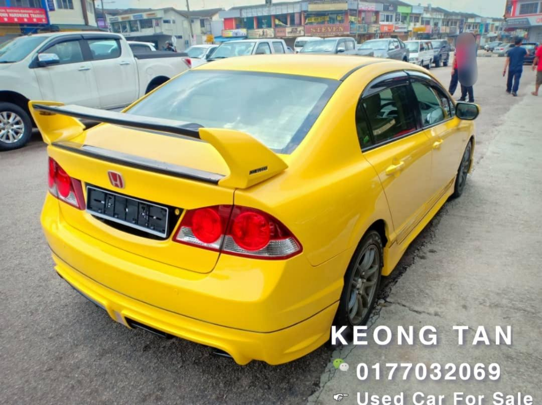 2008TH🚘Honda BumBer Bee CIVIC 1.8AT I-Vtec TypeR RR Bodykit Cash💰OfferPrice💲Rm35,800 Only🔥LowestPrice🔥InJB Call📲 0177032069 Keong🤗