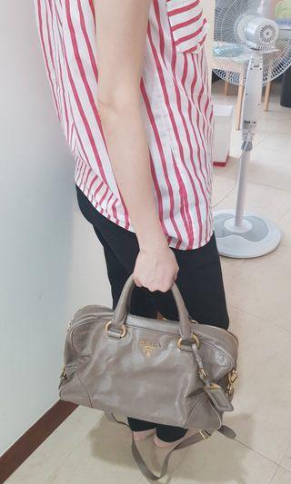 Prada bowling style bag
