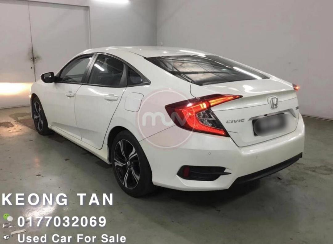 2016TH🚘HONDA CIVIC 1.5AT VTEC TURBO ENGINE FULL SPEC P.Start/Low MILEAGE 4XXXXKM Cash💰OfferPrice💲Rm88,800 Only‼ LowestPrice InJB🎉Call📲 Keong🤗