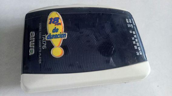 Walkman Aiwa TA 176 streo radio cassette
