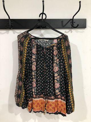 Zara Bohemian Loose Top - Cotton
