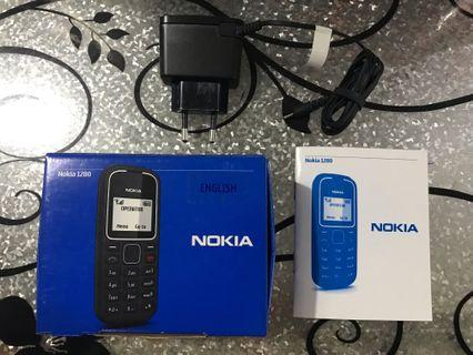 Nokia 1280 Box with User guide & Original Charger Brand new
