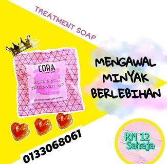Treatment soap for oily skin