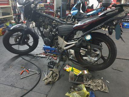 Honda Tiger GLS200 Servicing!